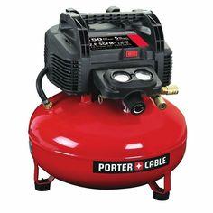 PORTER-CABLE C2002 Oil-Free UMC Pancake Compressor red   Home & Garden, Tools, Air Compressors   eBay!