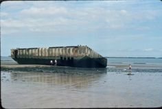 The remains of the Mulberry harbour, Arromanches.