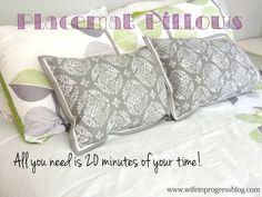 Placemat Pillows | W