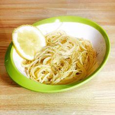 シンプルなレモンバターのパスタ作りました♡〜٩( ╹▿╹ )۶〜♡ シンプルが美味しいって書いてあったけど、色々なレシピがあったから又挑戦してみます #美容 #Beauty #女子力 #飯テロ #cooking #作った #料理 #夕飯 #クッキング #美味しい #お腹いっぱい #レモンバター #塩レモン
