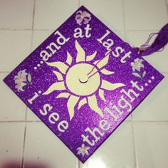 Disney's Tangled inspired graduation cap!