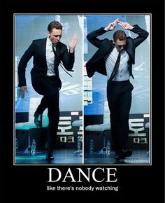 When asked, Tom's advice was to 'dance more.' I'm in! @HiddleMemes