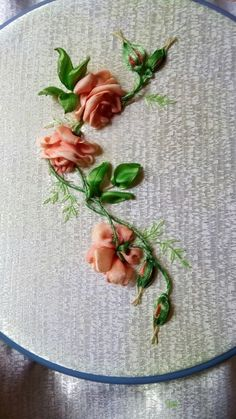 Wonderful Ribbon Embroidery Flowers by Hand Ideas. Enchanting Ribbon Embroidery Flowers by Hand Ideas. Learn Embroidery, Rose Embroidery, Embroidery Kits, Hand Embroidery Patterns, Embroidery Stitches, Embroidery Designs, Embroidery Techniques, Ribbon Art, Ribbon Crafts