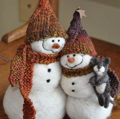 Needle Felted Art: Snowmans and Animals | PicturesCrafts.com