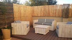 Awesome Ideas for Pallets Patio Couches: Again if you choose wood for the patio sitting then save a bundle of money by using pallet wood. You can make pallet