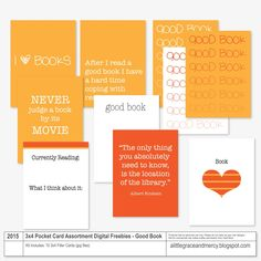Free Good Book Project Life Digital Cards from A Little Grace and Mercy: