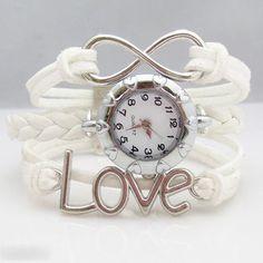 Retro LOVE Woven Bracelet Watch