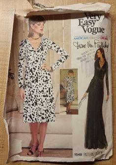 VADO 1548 Diane Von Furstenberg 70s wrap dress very easy c/c Sz12/34/36 sld 37+2.64 7bds 6/5/16