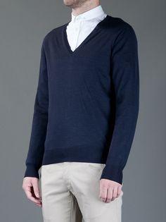 YVES SAINT LAURENT - V-neck sweater 3