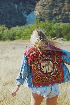 Embellished Elephant Jacket in Red