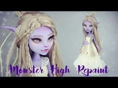 MONSTER HIGH REPAINT ELF WORK IN PROGRESS (English sub) - YouTube