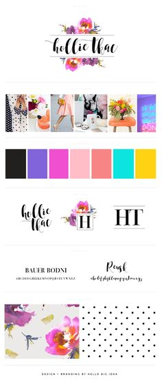Hollie Tkac Style Guide and Branding Board by Hello Big Idea - Personal branding ideas