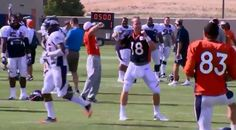 Peyton Manning does dorky dance to 'Rocky Top' at practice....And there's nothing dorky about it! #vfl
