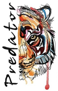 Bloody tiger muzzle predator machine embroidery design – My CMS Local Embroidery, Border Embroidery, Types Of Embroidery, Embroidery Transfers, Japanese Embroidery, Hand Embroidery Patterns, Vintage Embroidery, Machine Embroidery Designs, Embroidery Books