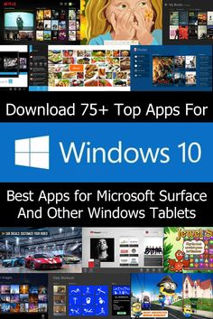 Here is a massive list of the best Windows 10 Apps available in the Windows App Store. We put together this collection of Windows 10 apps to help users get started with using the new operating system. The list features touch friendly apps that can be used on your Microsoft Surface Pro and other Windows Tablets. This list is sure to contain many apps you already use. Hopefully the list also contains some Windows 10 apps you may have missed.