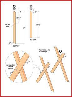 Brush and Log Sawhorse Instructions 1