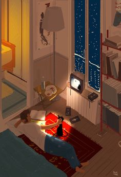 Movie night. by PascalCampion on @DeviantArt
