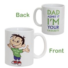 This Package Includes A 35 Inch Tall Specially Printed White Ceramic Coffee Mug For Your Dad Father Birthday GiftsGifts FatherOnline