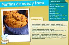¡Si te gustan los muffins, animate a probar esta variante con nuez y fruta! #RecetasLedesma