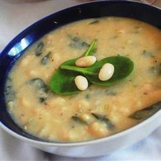 Spinach Soup with Cannellini Beans @ allrecipes.com.au