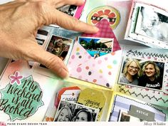 Paige Evans DT Project - Vegas Mini Album using Paige's Mini Album Card with Pocket Envelope & Tags cut file; Oh My Heart & Turn the Page collection; Distress Oxides