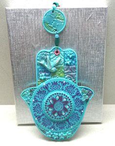 MANDALA HAMSA Housewares and decor Judaica  polymer by artefyk