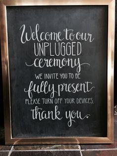 New wedding signs unplugged 37 ideas Top Wedding Trends, Casual Wedding, Wedding Tips, Diy Wedding, Wedding Planning, Dream Wedding, Wedding Bells, Summer Wedding, Wedding Stuff