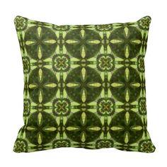 Green Botanical Geometric Print 234-502 Pillow
