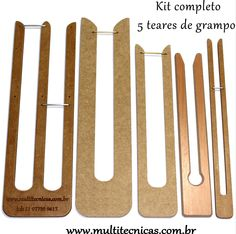 Conjunto de 5 teares para crochê de grampo multitecnicas.com.br