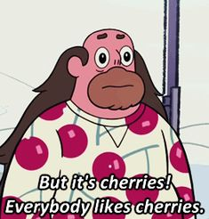 • mygifs steven universe Greg Universe steven universe spoilers venom edits I LOVE cherry print clothing rose really did pick a winner winter forecast he's a true cherry man venomade •