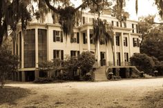 Worsmloe Plantation outside of Savannah, GA. Used in filming in The Last Song. House is still owned privately by the family, but I believe the property is considered protected by the state of GA. Has the most beautiful trees you ever saw.