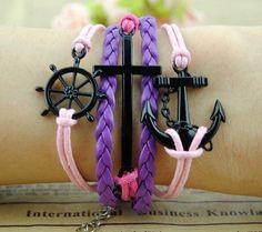 Chain Anchor & Helm  Charm Bracelet