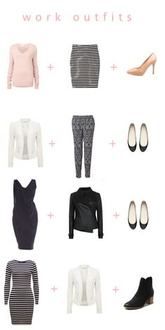 Here are the work looks we are using over on Chasing Cait today to create a capsule wardrobe.  Click the image to go to the blog for more details and to see more outfits
