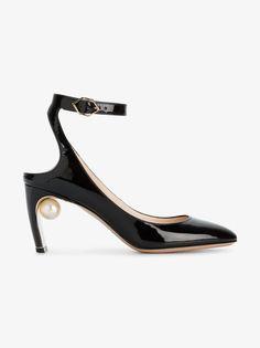 Nicholas Kirkwood Lola faux pearl mid heels