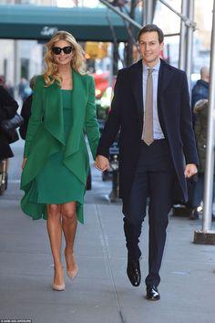 Иванка Трамп, дочь избранного президента со своим мужем Джаредом Кушнером.