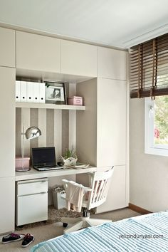 Youth room for girls - 21 great interior design ideas Bedroom Closet Storage, Bedroom Desk, Cheap Closet, Childrens Bedroom Decor, Teen Girl Rooms, Girl Bedrooms, Desk Areas, Girl Bedroom Designs, Trendy Bedroom