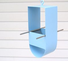 Cheep Modern Bird Feeder in Pale Blue by joepapendick on Etsy, $58.00
