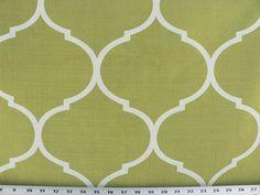 Kiwi Green Fabric Green/Ivory Fabric Green/Kiwi by EnglesideManor, $29.98