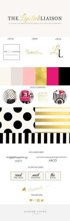 The Lipstick Liaison Artist Branding, Branding Kit, Business Branding, Branding Design, Layout Design, Blog Design, Web Design, Design Ideas, Design Websites