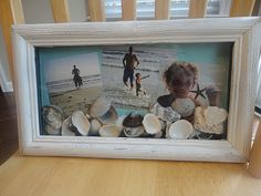 LOVE THIS...Maddox has some shells that she collected this summer and of course I have pictures to put in the frame :-)