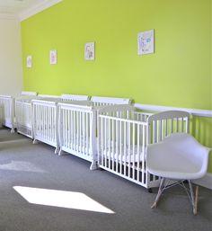 Designed by reStyled by Valerie. Briarcrest Project. Infant room. Childcare center interior design. Nursery decor. Nursery room design idea. Daycare center