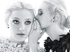Dakota & Elle Fanning W Magazine