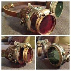 snaggle-how-tooth As promised in my previous post, here are my final steampunk goggles. I think these will serve nicely with my Halloween/ComicCon costume thi… - Moda Steampunk, Steampunk Crafts, Steampunk Clothing, Steampunk Fashion, Steampunk Design, Steampunk Wedding, Steampunk Goggles, Steampunk Cosplay, Steampunk Makeup