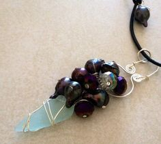 Hey, I found this really awesome Etsy listing at https://www.etsy.com/listing/199702149/mermaids-ice-blue-sea-glass-pearl-on