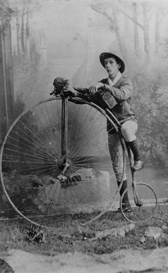 Long Distance Cyclist, G.E.B. Timewell, circa 1885.