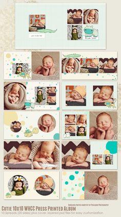 Cutie 10x10 WHCC Press Printed Album por 7thavenuedesigns en Etsy