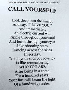 """CALL YOURSELF"" ― Suzy Kassem poetry, 2007."