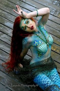 "Captured she ""soul of the sea"" body painting, body art tatto Skin Wars, Fantasy Make Up, Shooting Photo, Mermaid Makeup, Creative Makeup, Costume Makeup, Woman Painting, Makeup Art, Face And Body"