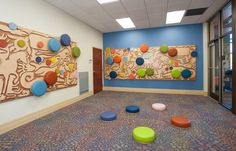 Gulf Gate Public Library Children's area- functional and decorative seating