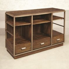 Hammary Flashback Entertainment Console with Metal Frame